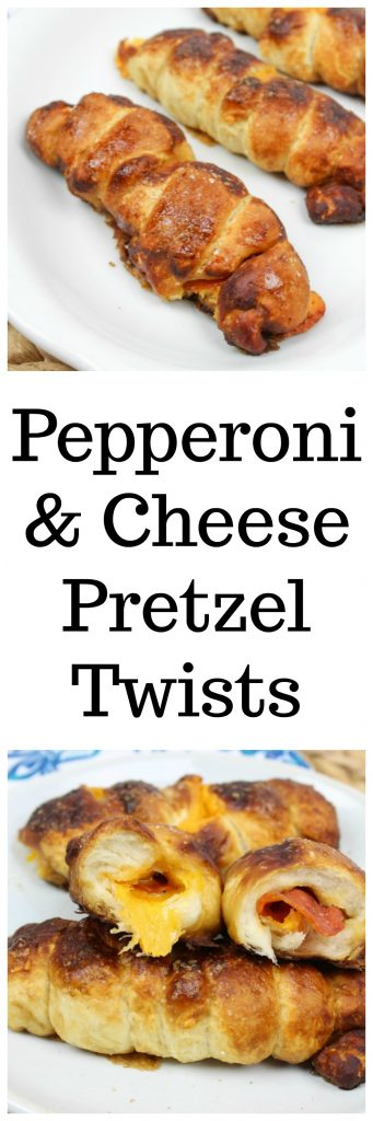 Pepperoni and Cheese Pretzel Twists