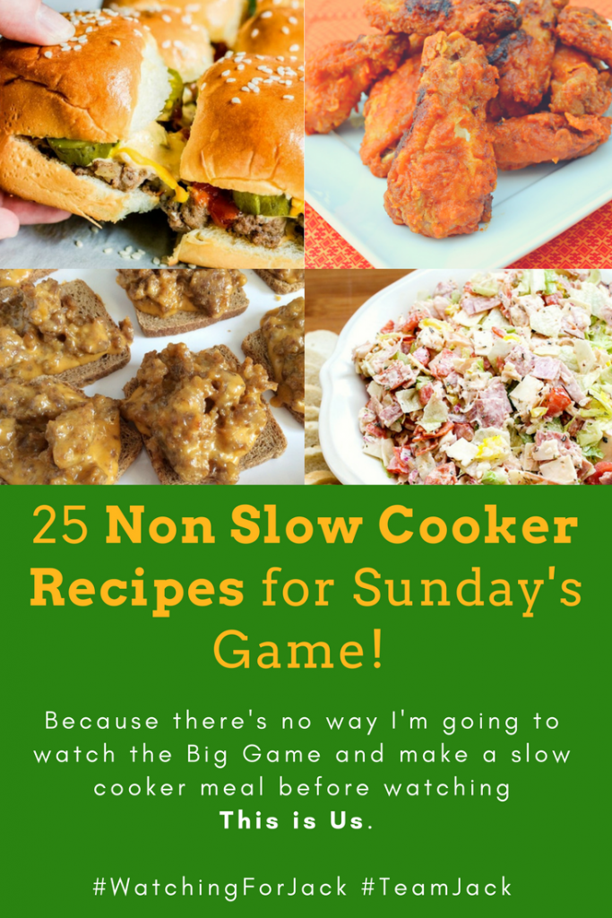 25 Non Slow Cooker Recipes for Sunday's Game