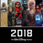 2018 Walt Disney Studios Movies Schedule