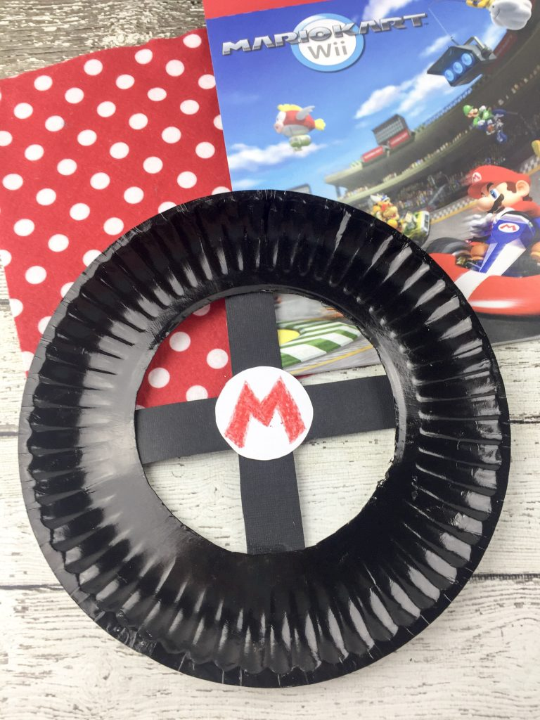 Mario Kart Paper Plate Craft