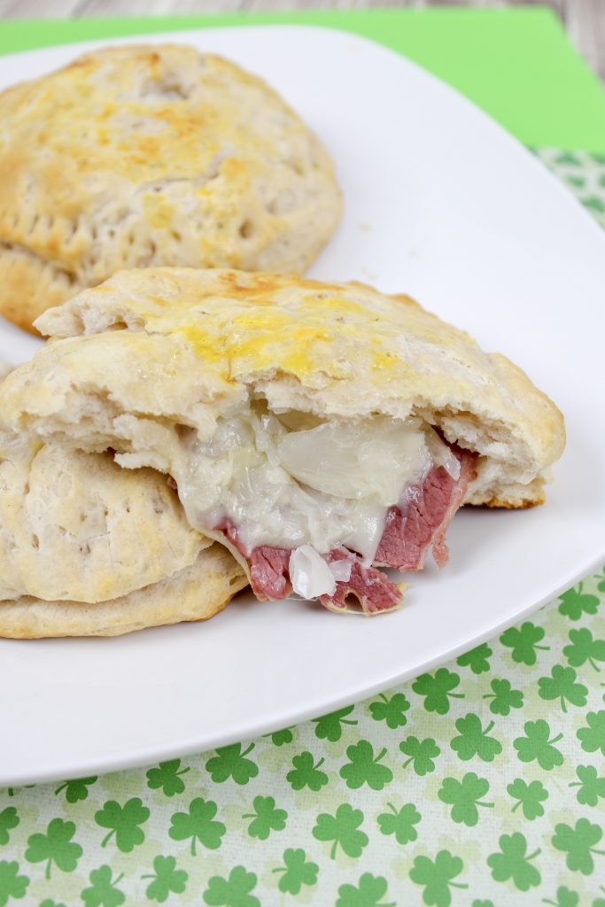 Reuben Stuffed Biscuits