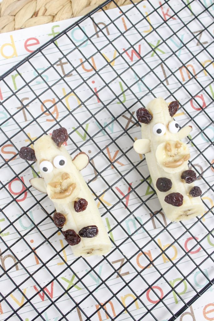 Banana Giraffes Kid's Snack