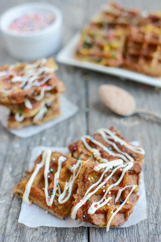 Dessert French Toast Waffle Bites