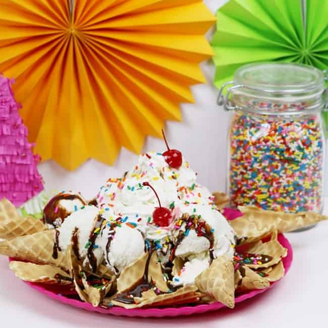 Ice Cream Nachos - A Quick & Easy Dessert Nacho Recipe