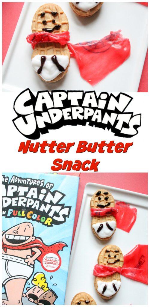 Captain Underpants Nutter Butter Snack